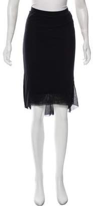 Fuzzi Layered Knee-Length Skirt