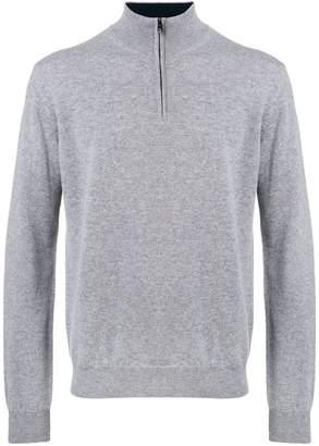 Corneliani zip front pullover
