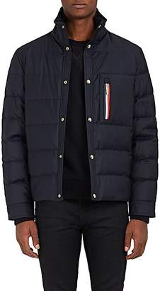 Moncler Gamme Bleu Men's Down-Quilted Wool Coat - Navy