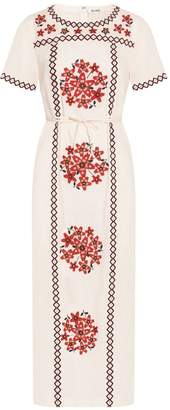 Suno Floral Applique Tunic