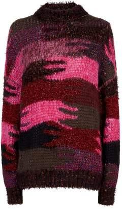 Saint Laurent Patchwork Camouflage Sweater