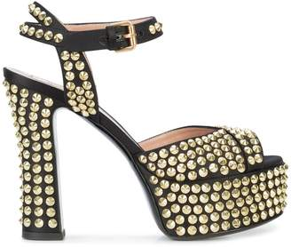Moschino studded platform sandals