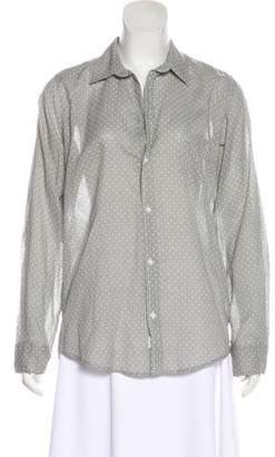 Frank And Eileen Polka Dot Print Button-Up Top