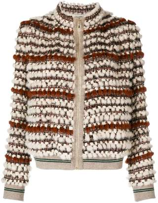 Cara Mila Hailey knitted mink jacket