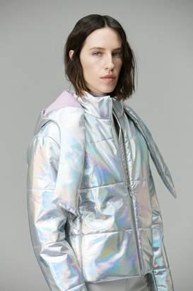 Veda Sharpe Holographic Puffer Coat