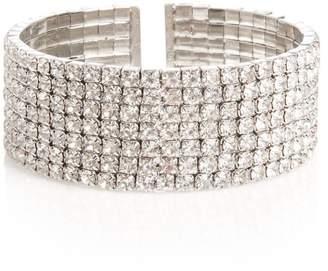 Quiz Silver Diamante Cuff