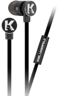 Karl Lagerfeld Black Wire Earphone