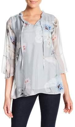 Luma Floral Print Silk Blend Top