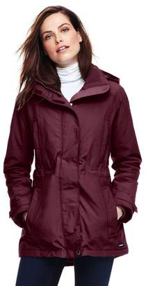 Lands' End Red Waterproof Short Coat