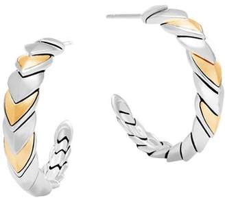 John Hardy 18K Gold and Sterling Silver Legends Naga Hoop Earrings