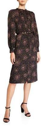 Kate Spade Disco Dots Belted Ruffle Shirtdress