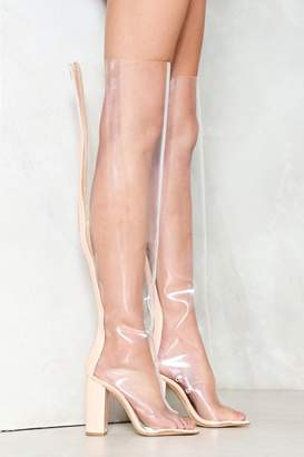 Nasty Gal Heart of Glass Thigh-High Boot