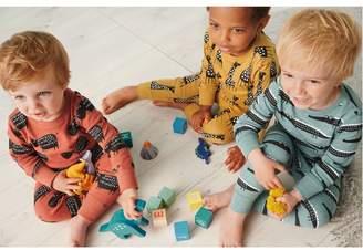 Next Boys Multi 3 Pack Wild Animal Snuggle Pyjamas (9mths-10yrs) - Yellow