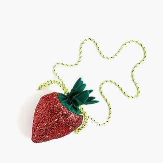 J.Crew Girls' glitter strawberry bag