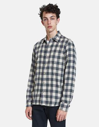 Rogue Territory Traveler Shirt in Grey/Khaki Plaid