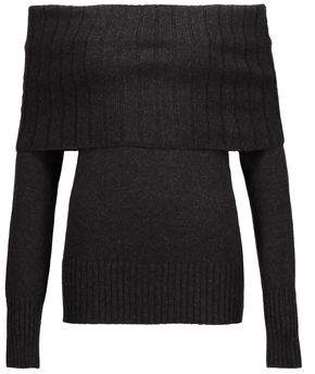 A.L.C. Monica Off-The-Shoulder Ribbed Merino Wool-Blend Sweater