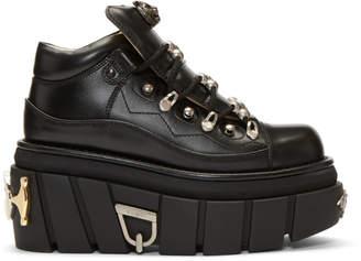 Gucci Black Koire Platform Boots
