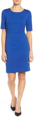 Women's Ellen Tracy Seamed Ponte Sheath Dress $108 thestylecure.com