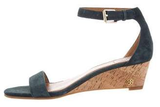 Tory Burch Suede Wedge Sandals