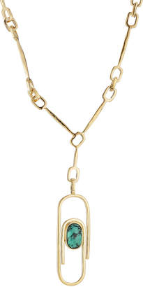 Aurelie Bidermann Angelica 18kt Gold Plated Necklace with Turquoise