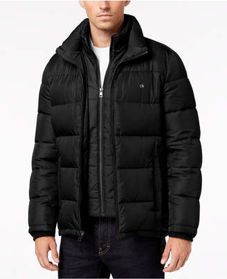 Calvin Klein Men's Big & Tall Full-Zip Puffer Coat