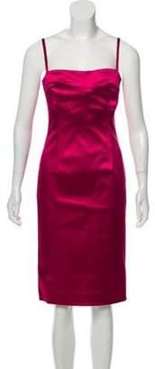 Dolce & Gabbana Satin Sleeveless Sheath Dress Fuchsia Satin Sleeveless Sheath Dress