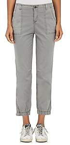 Barneys New York WOMEN'S STRETCH-COTTON CARGO PANTS - GRAVEL SIZE 6