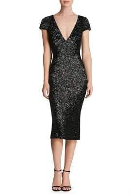 Dress the Population Allison Sequin Midi Dress