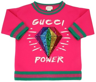 Gucci Sequined Cotton Sweatshirt