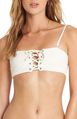 Billabong Sol Searcher Lace-Up Bandeau Bikini Top