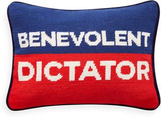 Jonathan Adler Benevolent Dictator Needlepoint Pillow