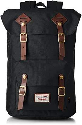 American Vintage (アメリカン ヴィンテージ) - [ドーナツ]Amazon公式 バックパック American Vintage Codura 8077C-0003-F(123097) Black Black