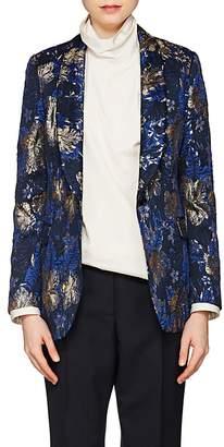 Dries Van Noten Women's Floral Jacquard One-Button Tuxedo Jacket