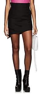 Helmut Lang Women's Canvas Asymmetric Miniskirt-Black
