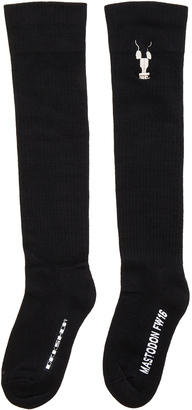 DRKSHDW by Rick Owens Mastodon Knee High Socks $192 thestylecure.com