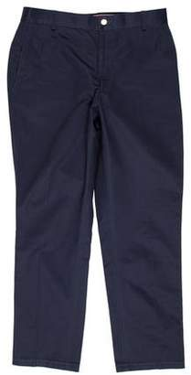 Thom Browne Flat Front Slim Pants