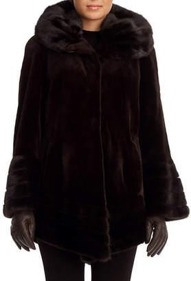 Gorski Sheared Mink Fur Stroller Coat