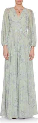 Luisa Beccaria Printed Georgette Dress