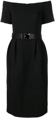 Fendi belted wool dress