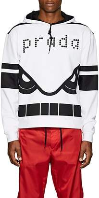 Prada Men's Cassette-Print Cotton French Terry Hoodie