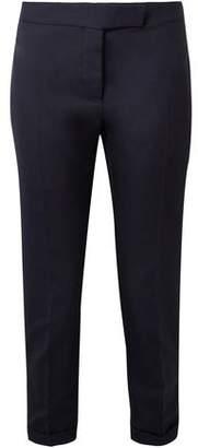 Thom Browne Cropped Wool-pique Slim-leg Pants