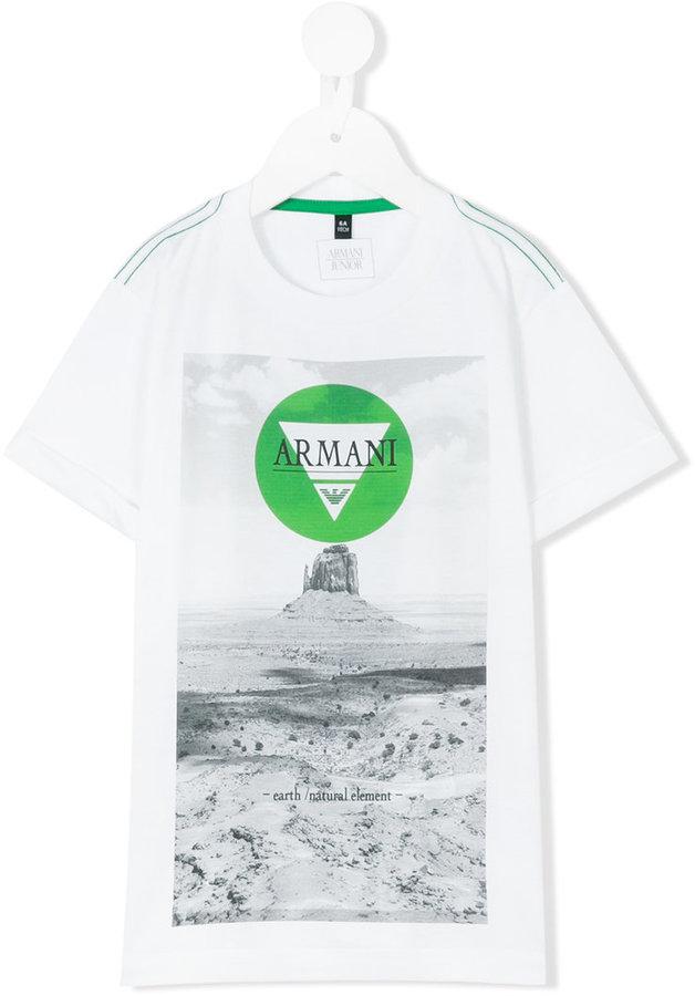 Armani JuniorArmani Junior logo T-shirt print
