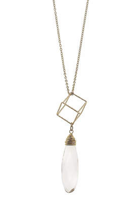 Canvas Clear Geometric Necklace