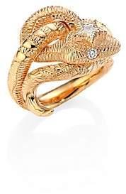 Gucci Women's Le Marché Des Merveilles Diamond& 18K Pink Gold Ring