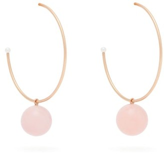 Irene Neuwirth Gumball Pink Opal & 18kt Rose Gold Hoop Earrings - Womens - Pink