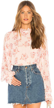 Endless Rose Pleated Ruffle Blouse
