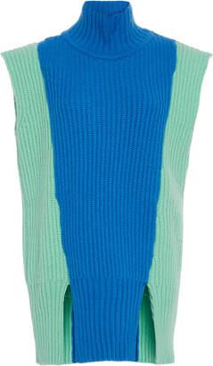 Prabal Gurung Color-Blocked Cashmere Sweater