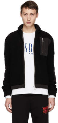 Misbhv Black Techno Fleece Zip Sweater