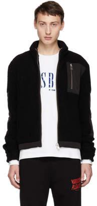 Misbhv Black Techno Fleece Zip Sweater