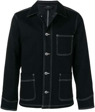 A.P.C. contrast stitch denim jacket